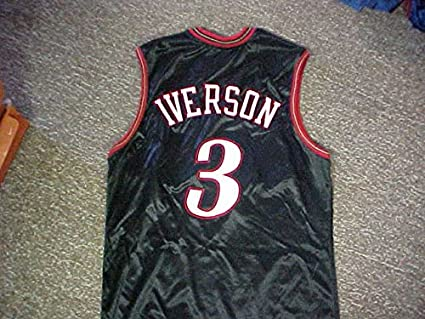 new concept c082c c05b5 Allen Iverson Philadelphia 76ers Game Worn Jersey at ...