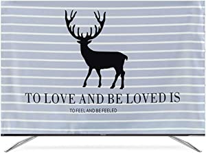 "ZHBWJSH TV Dust Cover Cloth Pastoral Simplicity (Color : D, Size : 52"")"