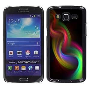 El humo iridiscente Armadura púrpura 420- Metal de aluminio y de plástico duro Caja del teléfono - Negro - Samsung Galaxy Grand 2