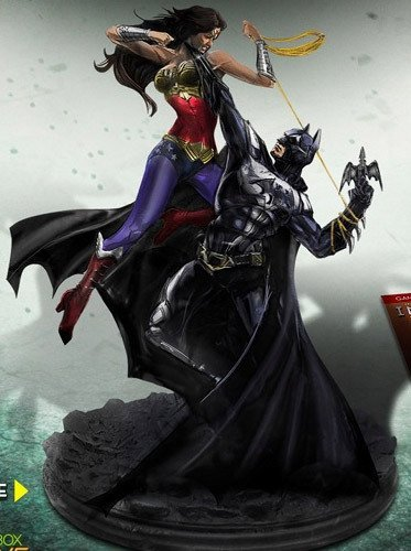Injustice : Gods Among Us UK/EURO Import Collector's Edition Exclusive statue of Batman choking Wonder Woman from Xbox 360, PS3 and Wii U [PlayStation 3]