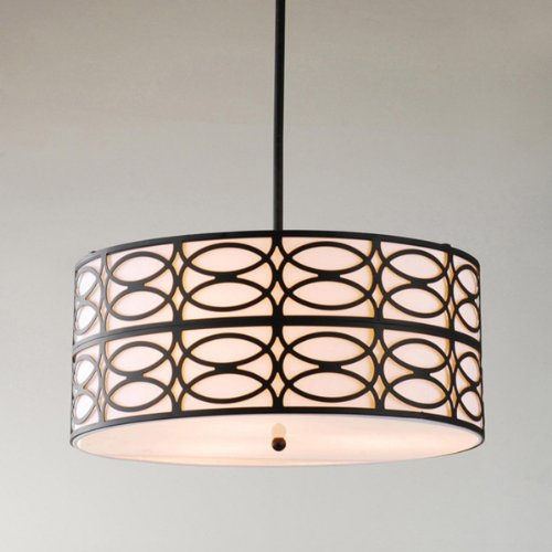 Indoor 3 Light Black Pendant Chandelier