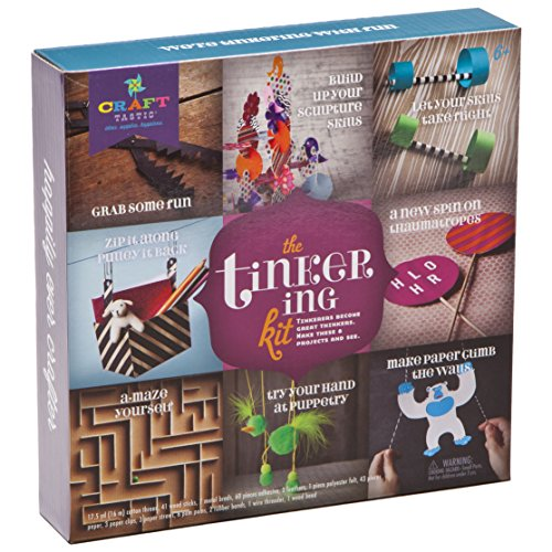 Craft-tastic Tinkering Kit - Craft Kit Makes 8 Different STEM