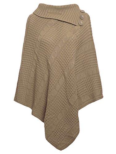 Freedom & Fashion - Poncho - capa - para mujer moca