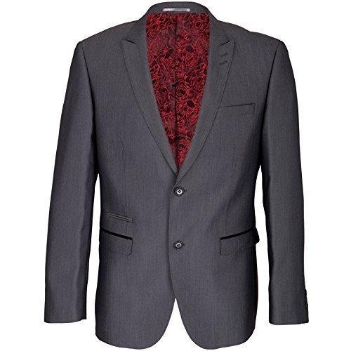 64d89be19a66 A tinta unita abito grigio matrimonio corto Regular Lungo da uomo Suits  Clearance Sale da uomo ideale per matrimoni da uomo giacche ...