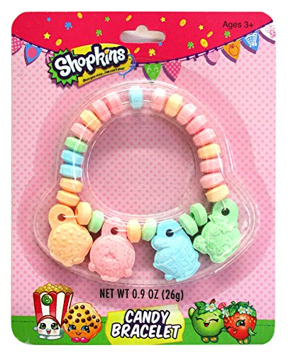 Shopkins Easter Basket Stuffer Candy Jewelry Charm Bracelet, 0.9 oz (Gift Basket Ideas Under $10)