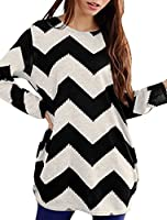 Allegra K Woman Zig-Zag Pattern Loose Knit Tunic
