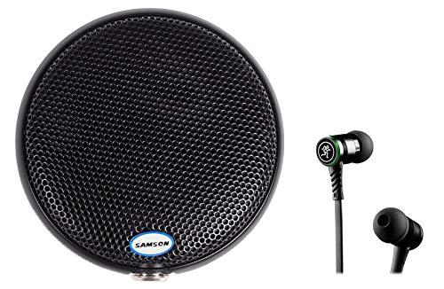 Samson CM11B Omni-directional Boundary Microphone Podium Mic+Mackie Earbuds