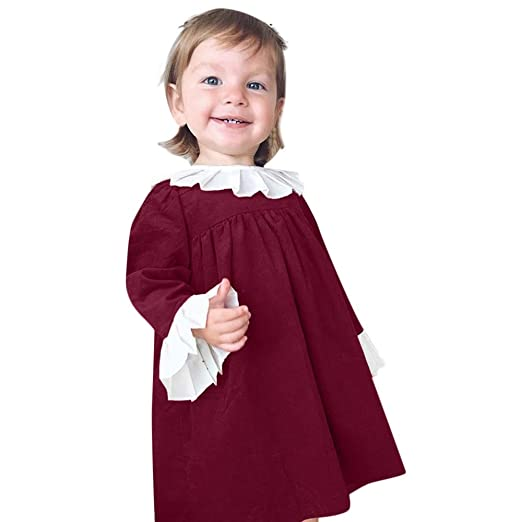 708bd491387b5 Amazon.com: Infant Toddler Baby Girls Princess Dress Fall Winter ...