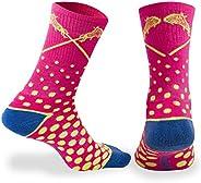 Lacrosse Athletic Half Cushioned Crew Socks | Sundae and Malibu Neon Designs