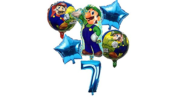 BAYUE Globos 6 Unids / Lote Super Mario Bros Globos Fiesta ...