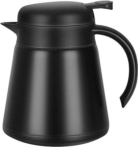 Luvan 18/10 Jarra Térmica Termo, Anti-Goteo, Anti-Quemaduras, La cafetera de Aislamiento, café (Negro): Amazon.es: Hogar