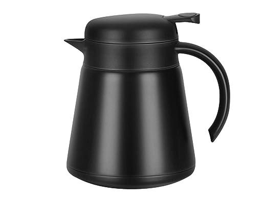 Luvan 800ML 18/10 Jarra Térmica Termo, Anti-Goteo, Anti-Quemaduras, La cafetera de Aislamiento, café (Negro)