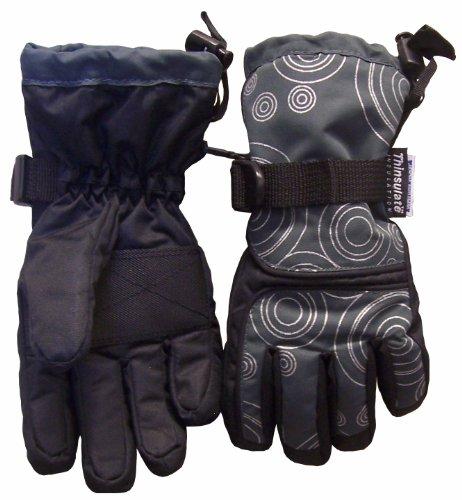 N'Ice Caps Boys Digital Circle Scroll Print Waterproof Ski Glove