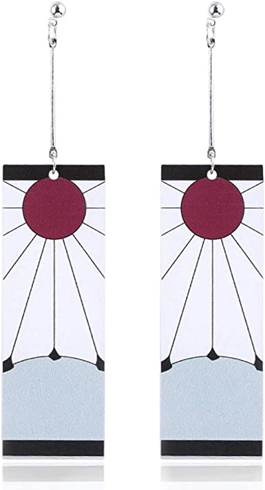 Amazon Com Kamado Tanjirou S 2 Earrings From Demon Slayer Clothing All orders are custom made and most ship worldwide within 24 hours. kamado tanjirou s 2 earrings from demon slayer