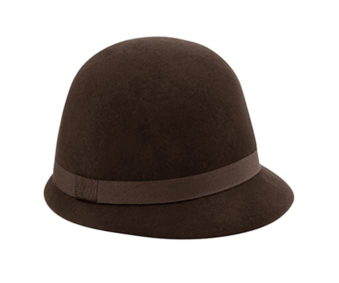 The G Cap G Women s Wool Felt Cloche Hat (Brown) at Amazon Women s ... e3188488096