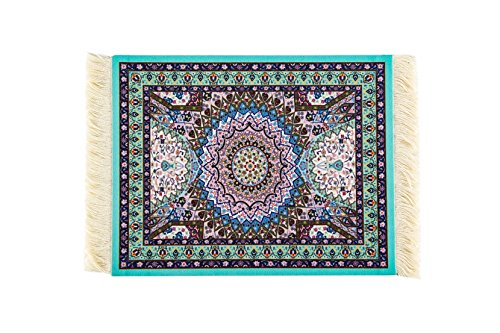 Persian Miniature Art - Rug Mouse Pad,Lexiart Oriental Persian Woven Mouse Mat,9.5*7.5*0.5