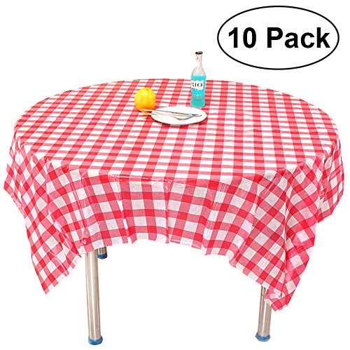 "AllGoodWare 10 Pack 78"" Round Plastic Tablecloth 