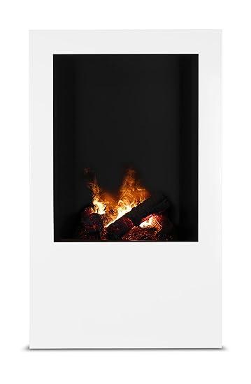 Magma infrarrojos-estufa de leña 08, chimenea eléctrica de calor Optimyst con verdadera, controlado por radio: Amazon.es: Hogar