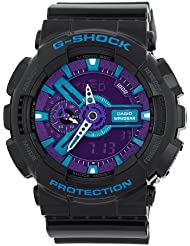 Casio Mens GA110HC-1A  G-Shock Black/Blue/Purple Multi-Function Digital Watch