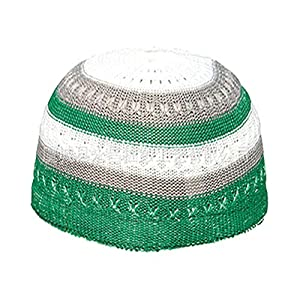 76d18005d4c99 AkoMatial Beanie Cap Color Block Outdoor Skull Hat Topi Headwear Muslim  Islamic Prayer Cap for Men