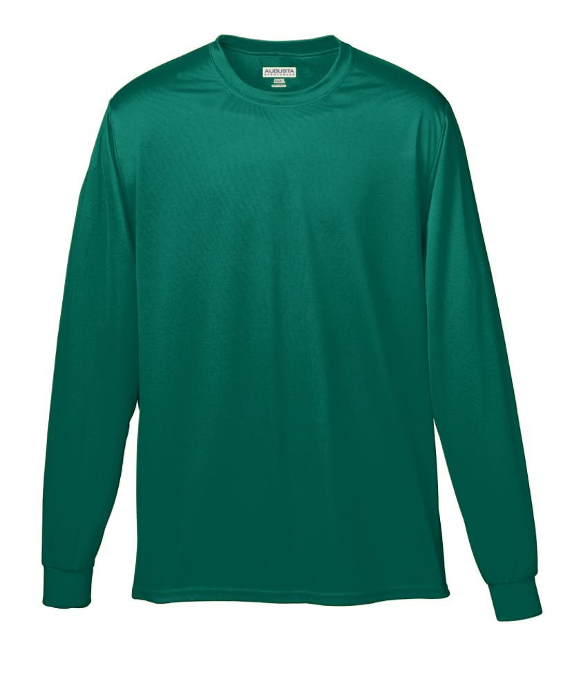 Amazon.com: Augusta Sportswear MEN'S WICKING LONG SLEEVE T-SHIRT ...