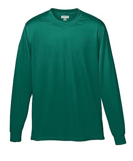 Augusta Sportswear Wicking Long Sleeve T-Shirt, 3X-Large, Dark Green