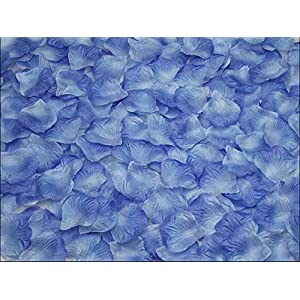 Bestmall®1000pcs NEW red Simulation Rose Petals Artificial Flowers For Wedding Party Decoration (Sky-blue) 48