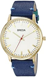 Breda Unisex 1697D Analog Display Japanese Quartz Blue Watch