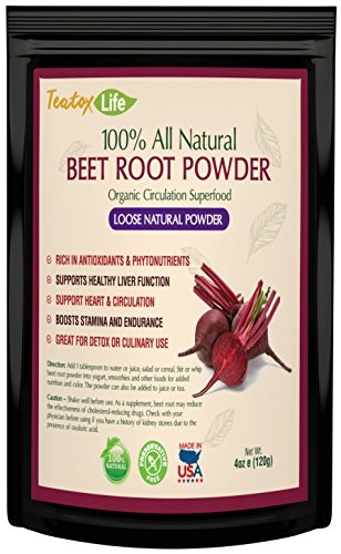 Beetroot Powder Organic for Juice, All-Natural - Nitric Oxide Support for Increased Endurance - 4 oz / 120 grams | USDA | Made in USA