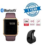 Twogood Apple Compatible Golden A1 Bluetooth SmartWatch With WhatsApp, Facebook, Twitter, Pedometer, Remote Camera, SIM Card & Sleep Monitoring Support With Ultra Small S530 Bluetooth 4.0 Headset (1 Year Warranty)