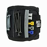#9: Magnetic Wristband with Strong Magnets & Pockets to Hold Screws, Nails, and Plastic Tools by BEST EVER. Amazing Helping Hand for Your DIY Projects. Best Gift for Men, Birthday, Father, Dad, Women