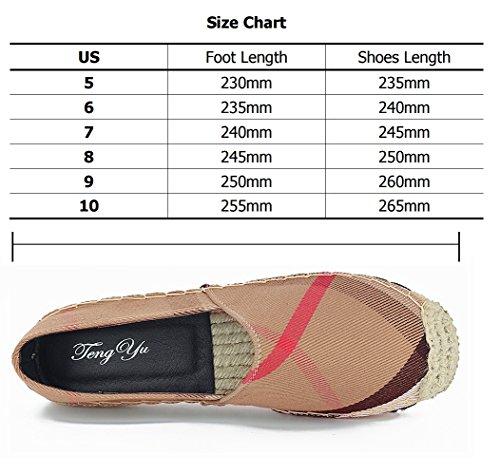 Tengyu Flats Shoes Women's Espadrilles Original Slip On Loafer Shoes Classic Canvas Comfort Alpargatas(US8=EU39=24.5CM) by Tengyu (Image #5)