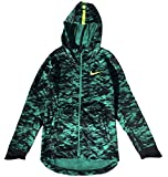 Nike Boy's Therma Elite Basketball Hoodie Neptune Green/Volt Size X-Large