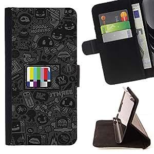 Momo Phone Case / Flip Funda de Cuero Case Cover - Programas de dibujos animados;;;;;;;; - LG G2 D800