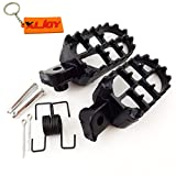 XLJOY Black Aluminium Footrest Foot Pegs Fit Yamaha PW 50 80 PW50 PW80 TW200 Pit Dirt Bike