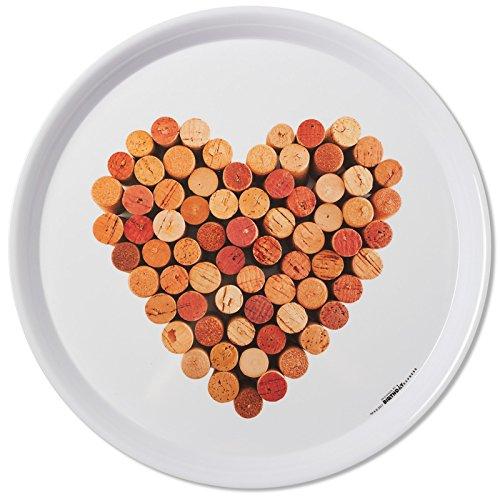 (Xammax International - Wine Heart Cork Melamine Tray - White)