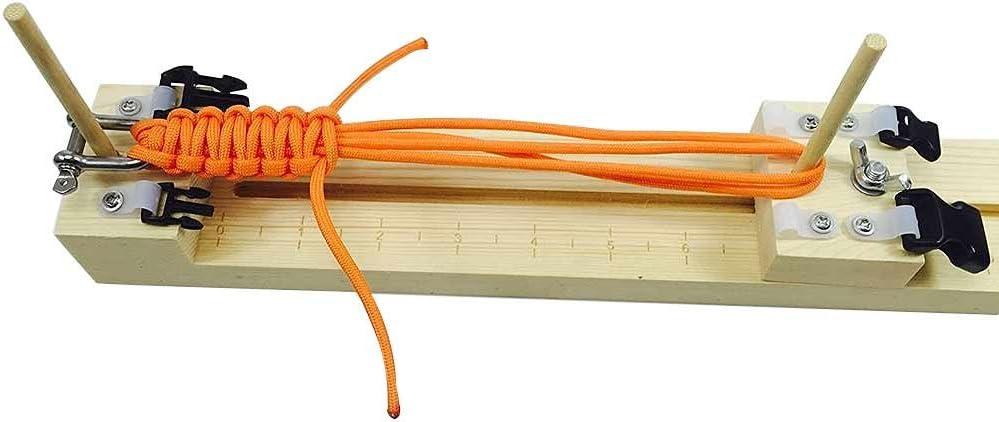 DIY Wristband Knitting Wood Bracelet Tool Paracord Braiding Weaving Maker Kit UK