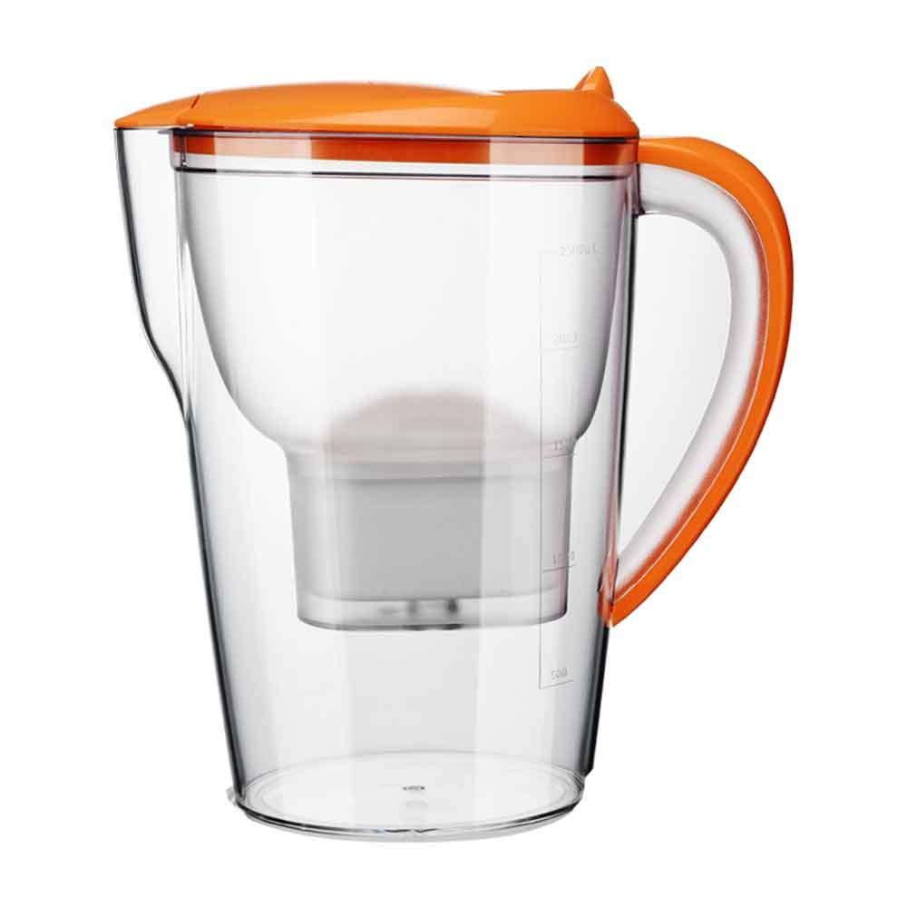 LJ2 Brocca di Filtro dell'Acqua, Lanciatore di Acqua 2.5L Brocca di Acqua bollitore con Filtro Acqua Pura Sana Acqua Minerale Sana BPA con Elemento filtrante, per la casa Prezzi