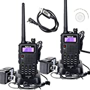 #LightningDeal 80% claimed: Retevis RT5 (Generation 2) 2 Way Radio 8W/5W/1W(High/Medium/Low) Dual Band VHF136-174MHz+UHF400-520MHz Walkie Talkie with 128 Channels Scan VOX DTMF FM Radio 1750Hz Function and a Programming Cable (2 Pack)