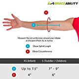 BraceAbility Pediatric Elbow Immobilizer - Arm Restraint Brace and Extension Splint to Keep Arm Straight for Toddlers / Children / Kids (Small)