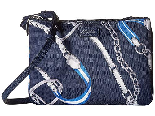 Ralph Lauren Double Zip Belt Navy Crossbody