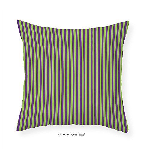 60s Linen (VROSELV Custom Cotton Linen Pillowcase Pop Art Decor Vintage Retro 50s 60s Style Bold Stripes Rooms Wallpaper Image for Bedroom Living Room Dorm Royal Blue and Lime Green 14