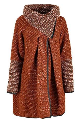Comfiestyle - Abrigo - Abrigo - para Mujer Herrumbre