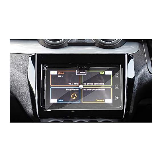 RUIYA 2018 Maruti Suzuki Swift Smart Play infotainment System Touch Screen Car Display Navigation Screen Protector, HD