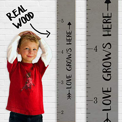 Growth Chart Art | Love Grows Here Wooden Height Chart | Tribal Wood Growth Chart for Babies, Kids, Boys & Girls (Tribal - Art Growth For Kids Chart