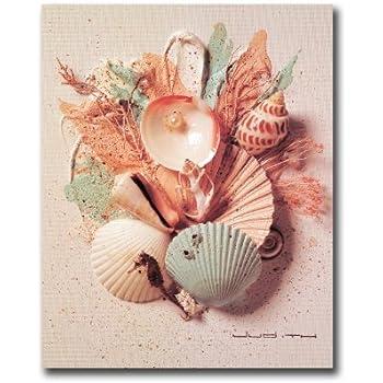 Ocean Starfish Sea Shell Beach Bathroom # 1 Wall Picture 8x10 Art Print