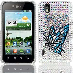 Diamond Encrusted Plastic Carcasa Para LG P970 Case Cover
