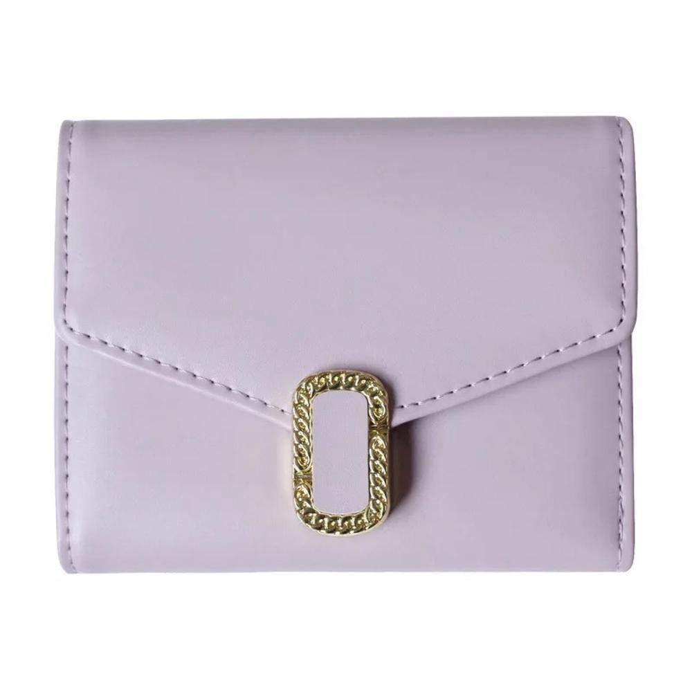 Color : B Lady Wallet Womens Wallet Ladies Wallet 30 Percent Hardware Buckle Mini Pocket Change Clip