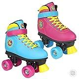 Pop Squad Malibu Classic Quad Roller Skates - Funky Pink, Size UK 1