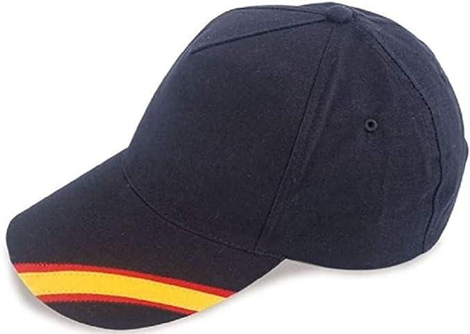 crisandecor Gorra Azul Bandera de España y Regalo Pulsera Tela ...